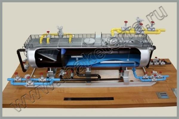 """Макет замерной установки  """"Спутник """" тип Б. Макет-схема обвязки оборудования при ГРП."""